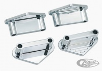 Chrome-plated front fender spacers with milling
